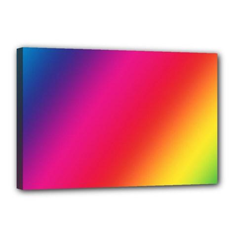 Rainbow Colors Canvas 18  X 12