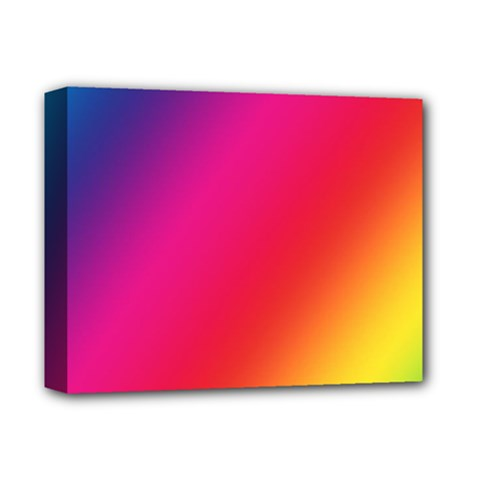 Rainbow Colors Deluxe Canvas 14  X 11
