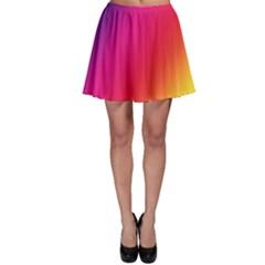 Rainbow Colors Skater Skirt