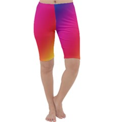 Rainbow Colors Cropped Leggings