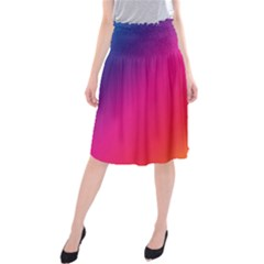 Rainbow Colors Midi Beach Skirt