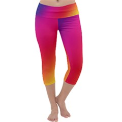 Rainbow Colors Capri Yoga Leggings