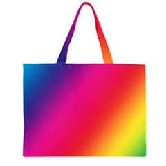 Rainbow Colors Large Tote Bag