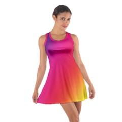 Rainbow Colors Cotton Racerback Dress