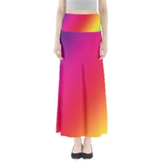 Rainbow Colors Maxi Skirts