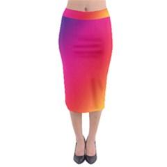 Rainbow Colors Midi Pencil Skirt