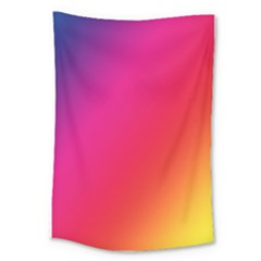 Rainbow Colors Large Tapestry