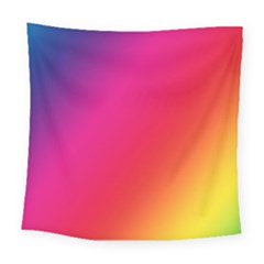 Rainbow Colors Square Tapestry (large)