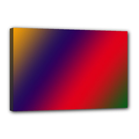 Rainbow Two Background Canvas 18  X 12