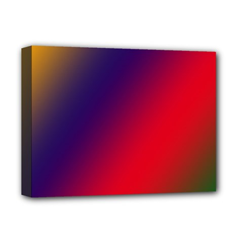 Rainbow Two Background Deluxe Canvas 16  X 12