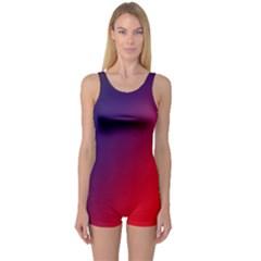 Rainbow Two Background One Piece Boyleg Swimsuit