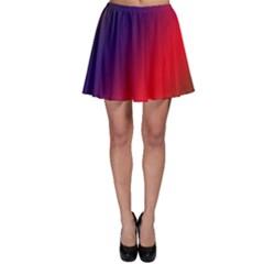 Rainbow Two Background Skater Skirt