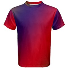 Rainbow Two Background Men s Cotton Tee