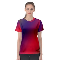 Rainbow Two Background Women s Sport Mesh Tee