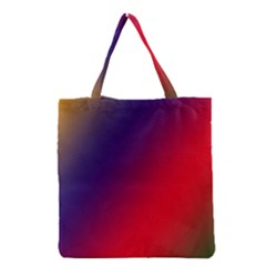 Rainbow Two Background Grocery Tote Bag