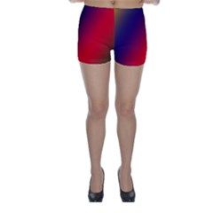 Rainbow Two Background Skinny Shorts