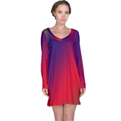 Rainbow Two Background Long Sleeve Nightdress