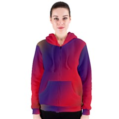 Rainbow Two Background Women s Zipper Hoodie