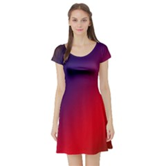Rainbow Two Background Short Sleeve Skater Dress