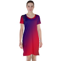 Rainbow Two Background Short Sleeve Nightdress