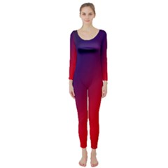 Rainbow Two Background Long Sleeve Catsuit