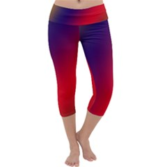 Rainbow Two Background Capri Yoga Leggings