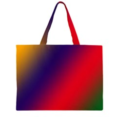 Rainbow Two Background Large Tote Bag
