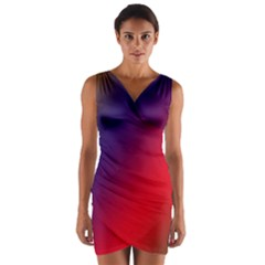 Rainbow Two Background Wrap Front Bodycon Dress