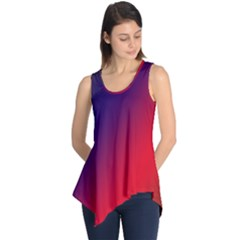 Rainbow Two Background Sleeveless Tunic