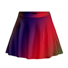 Rainbow Two Background Mini Flare Skirt