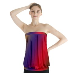 Rainbow Two Background Strapless Top