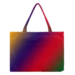 Rainbow Two Background Medium Tote Bag