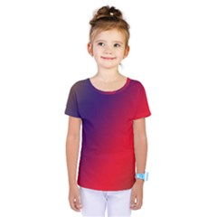 Rainbow Two Background Kids  One Piece Tee