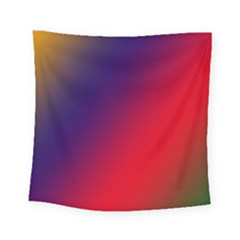 Rainbow Two Background Square Tapestry (small)