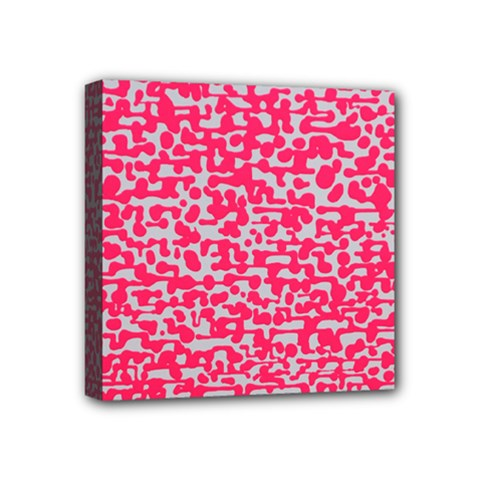 Template Deep Fluorescent Pink Mini Canvas 4  X 4