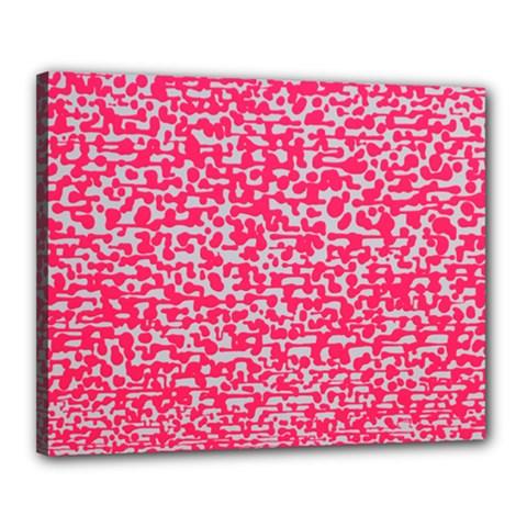 Template Deep Fluorescent Pink Canvas 20  X 16