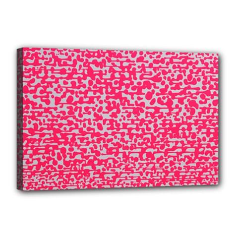 Template Deep Fluorescent Pink Canvas 18  X 12