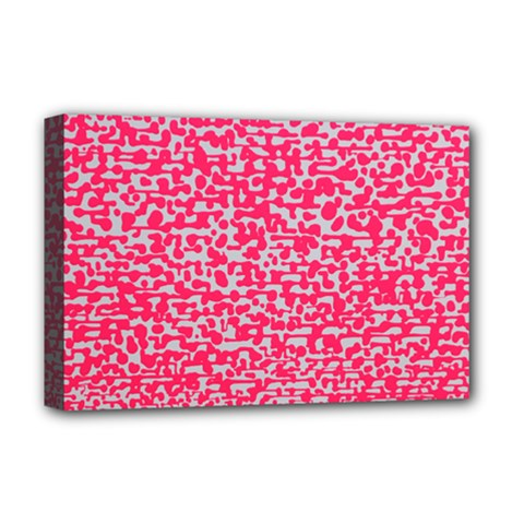 Template Deep Fluorescent Pink Deluxe Canvas 18  X 12