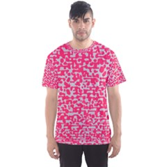 Template Deep Fluorescent Pink Men s Sport Mesh Tee