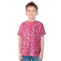 Template Deep Fluorescent Pink Kids  Cotton Tee
