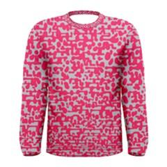 Template Deep Fluorescent Pink Men s Long Sleeve Tee
