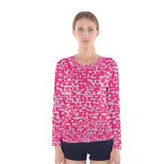 Template Deep Fluorescent Pink Women s Long Sleeve Tee