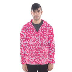 Template Deep Fluorescent Pink Hooded Wind Breaker (men)