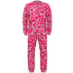 Template Deep Fluorescent Pink Onepiece Jumpsuit (men)