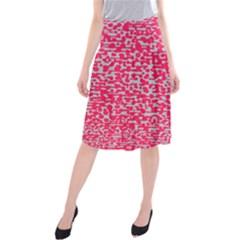 Template Deep Fluorescent Pink Midi Beach Skirt