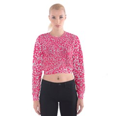 Template Deep Fluorescent Pink Women s Cropped Sweatshirt