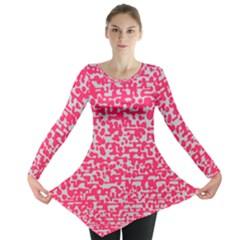 Template Deep Fluorescent Pink Long Sleeve Tunic