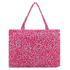Template Deep Fluorescent Pink Medium Zipper Tote Bag