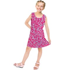 Template Deep Fluorescent Pink Kids  Tunic Dress