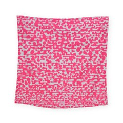 Template Deep Fluorescent Pink Square Tapestry (small)